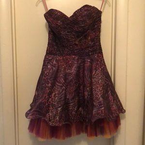 EUC Blush Prom by Alexia Short Animal Print Dress